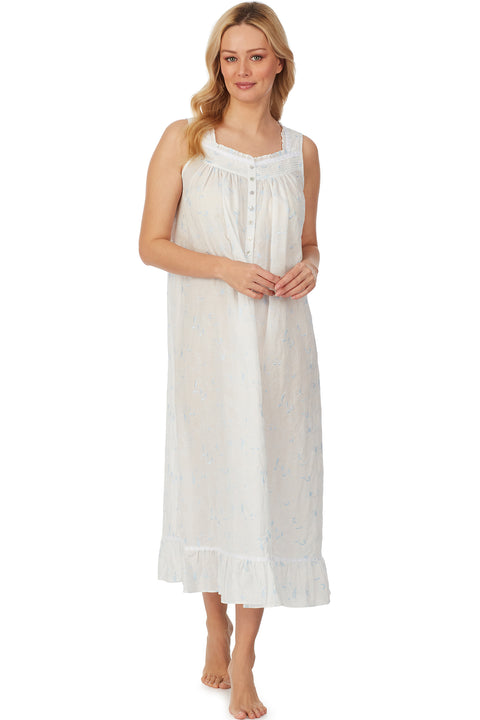Blue Opal Embroidered Nightgown