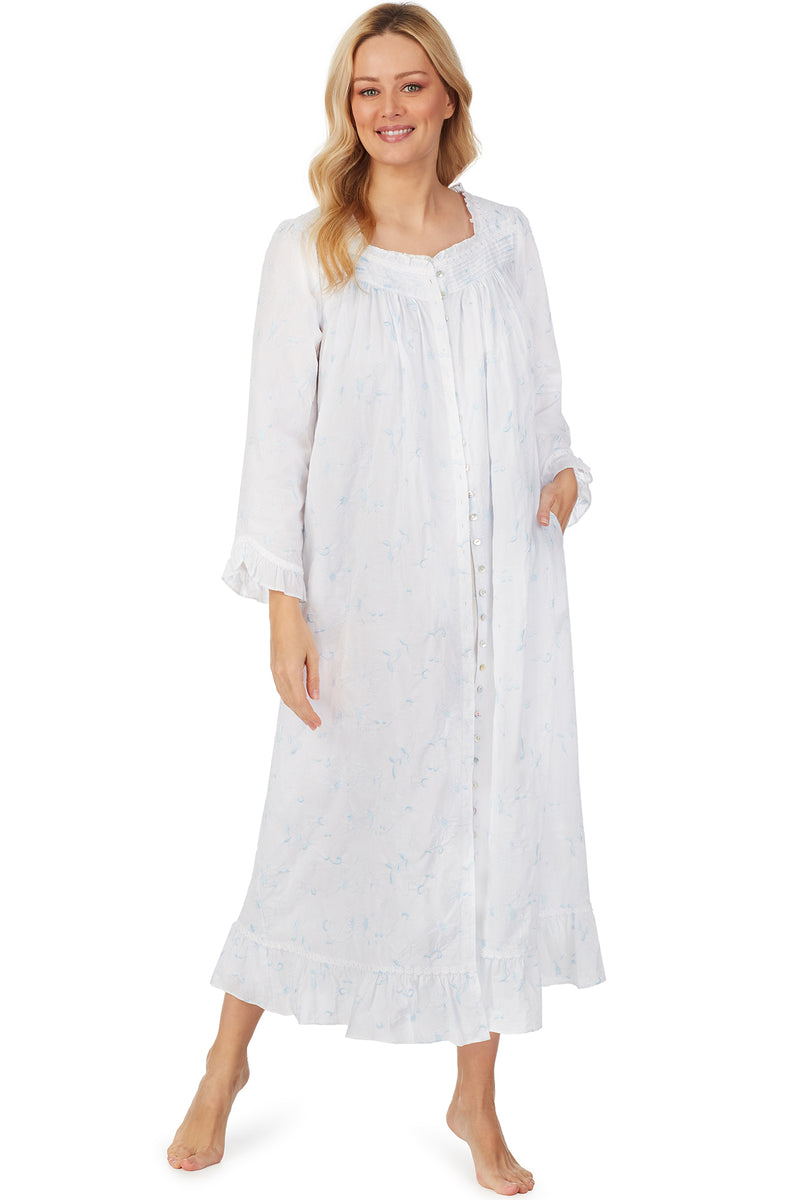 Blue Opal Embroidered Ballet Robe