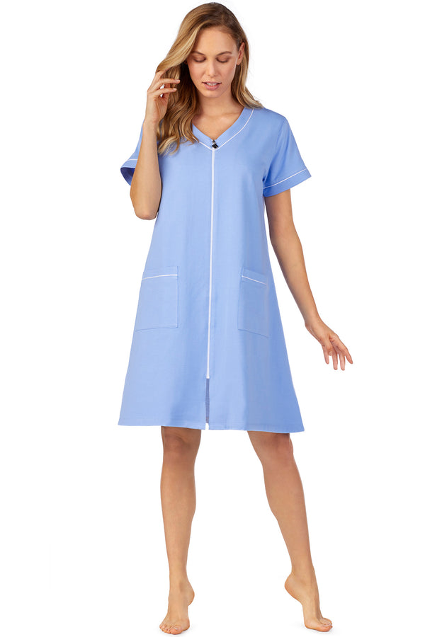 Sky Blue Zip Robe