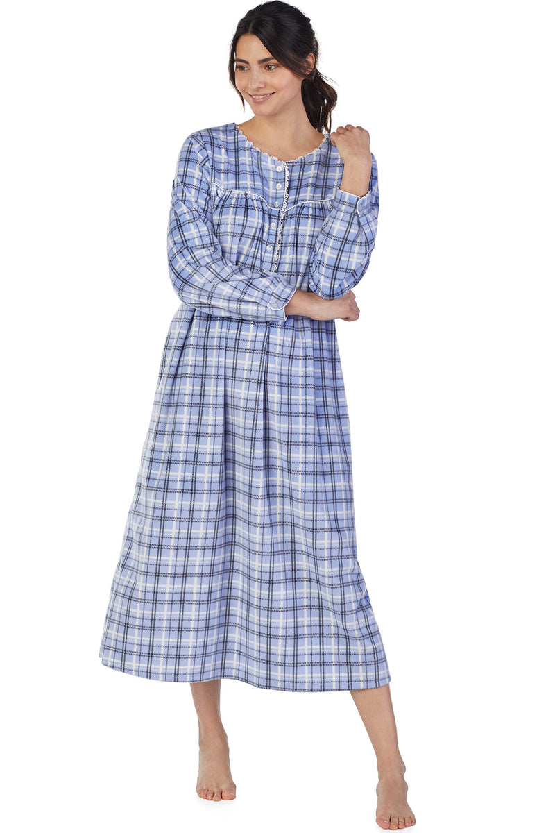 Winter Plaid Microfleece Gown