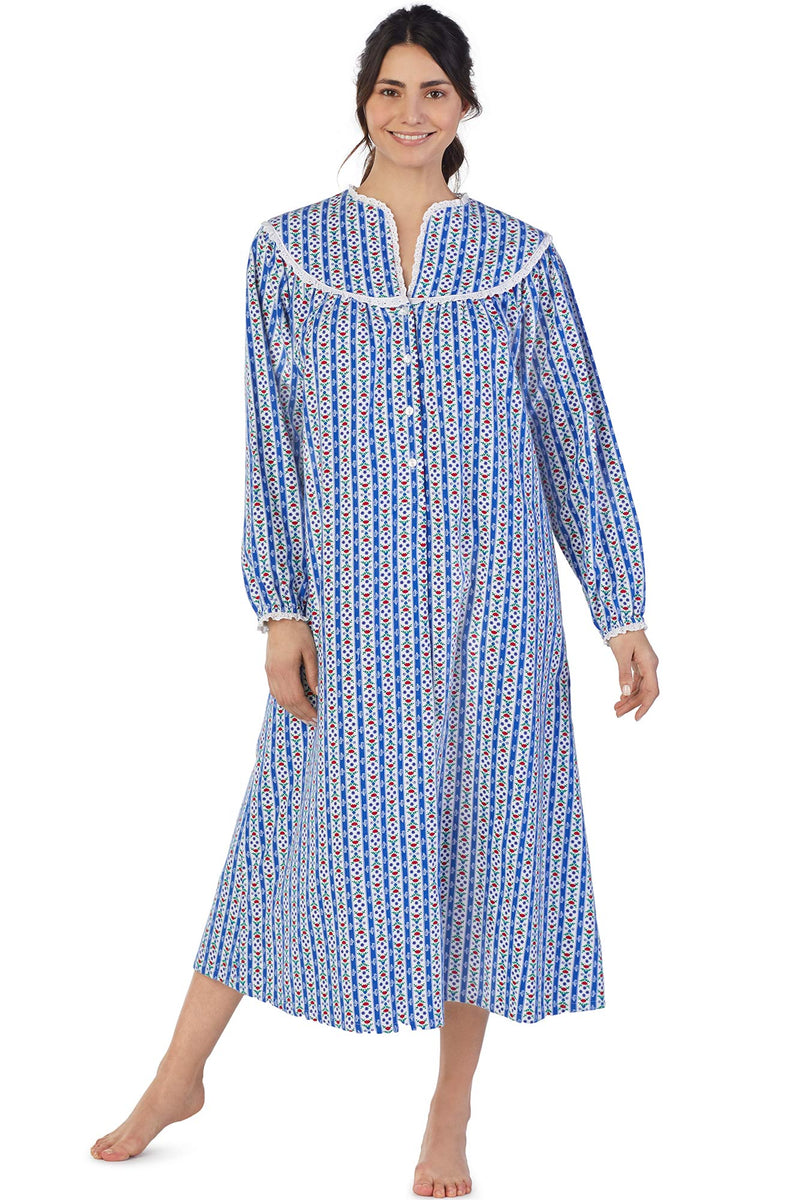 Classic Tyrolean Stripe Flannel Gown – Eileen West