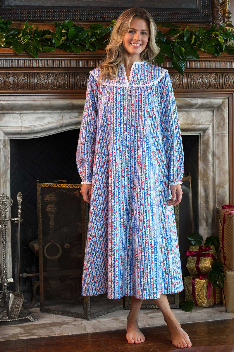 Tyrolean Stripe Flannel Gown