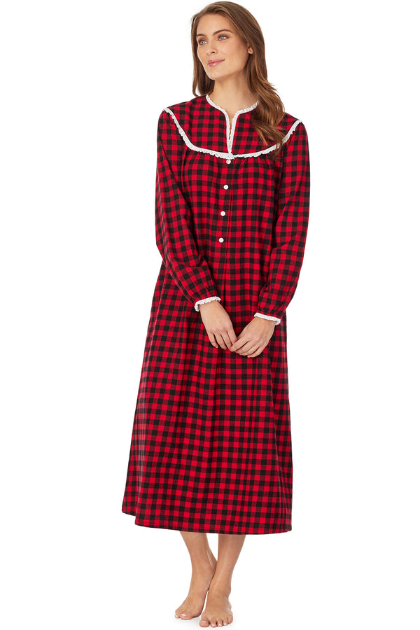 Buffalo Check Flannel Gown