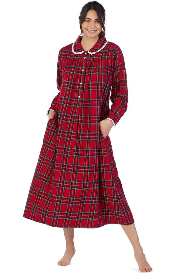Red Tartan Flannel Gown