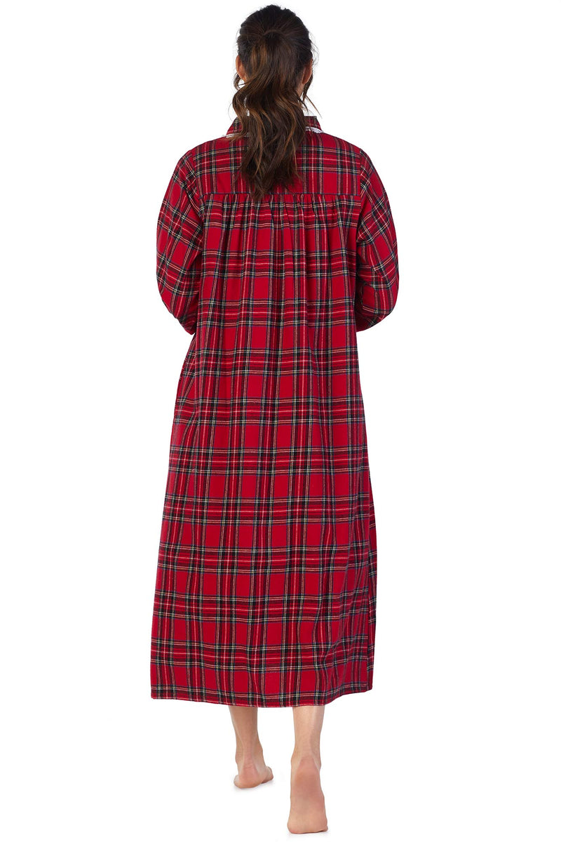 Red Tartan Flannel Gown – Eileen West