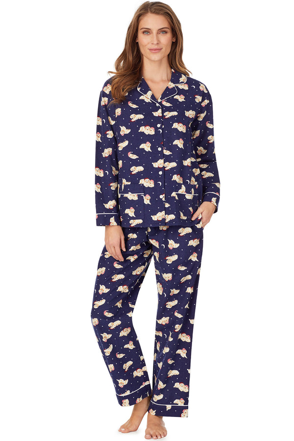 Nighttime Puppy Flannel Pajama