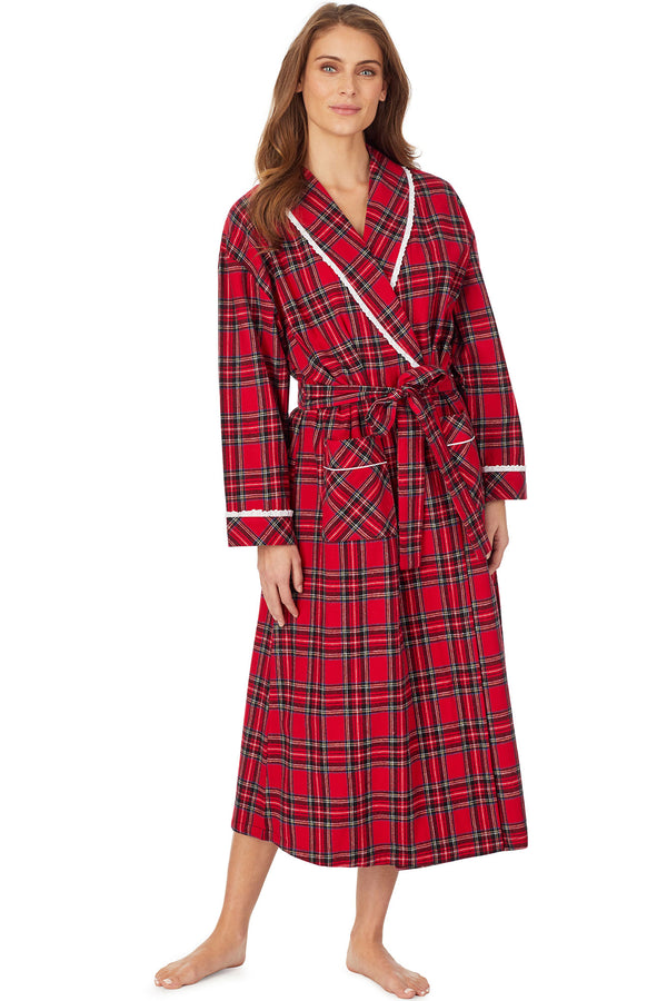 Red Tartan Flannel Robe