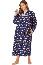 Nighttime Puppy Flannel Gown, Plus