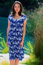 Indigo Rose Waltz Gown