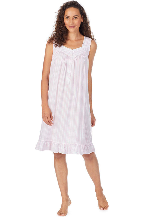 Pink Rayon Stripe Chemise