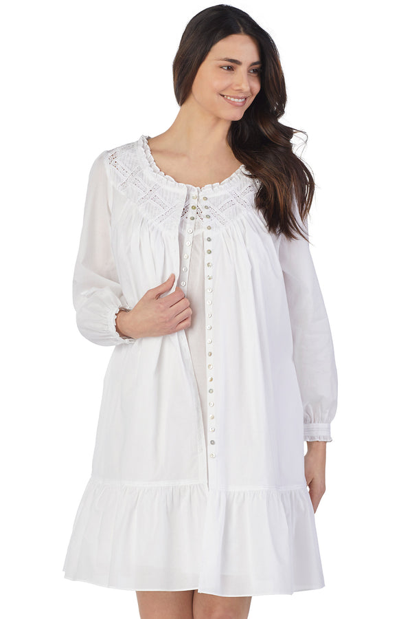 LATTICE SHORT ROBE