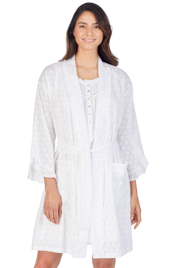 Heart Jacquard Wrap Robe