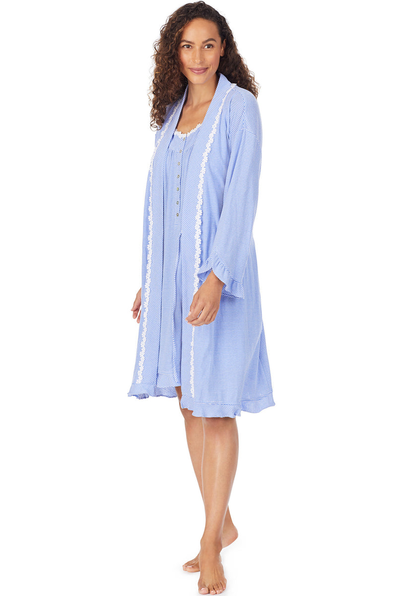 Ocean Stripe Robe