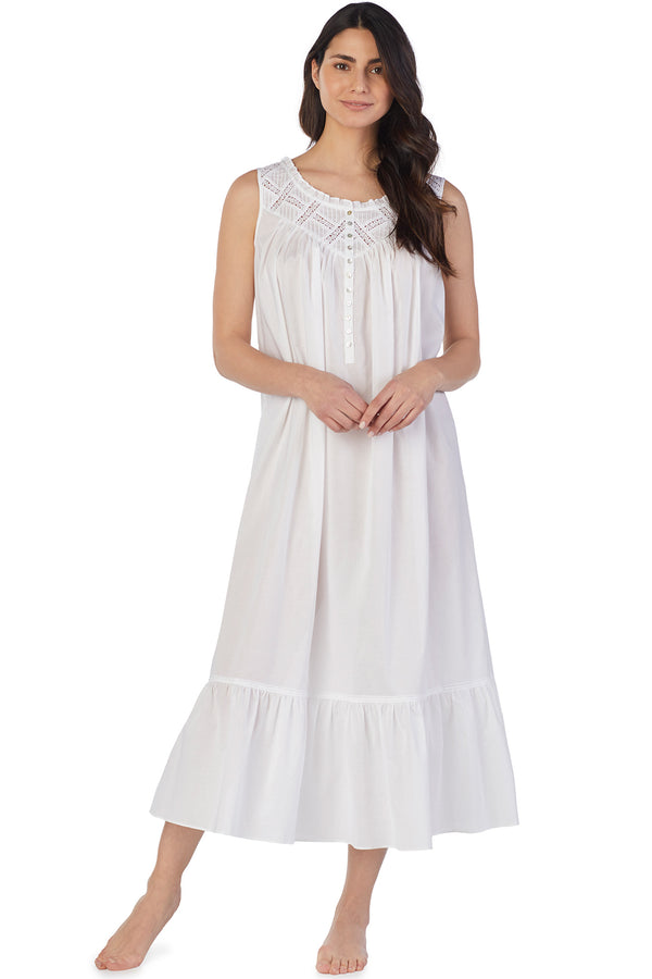 LATTICE BALLET GOWN-White