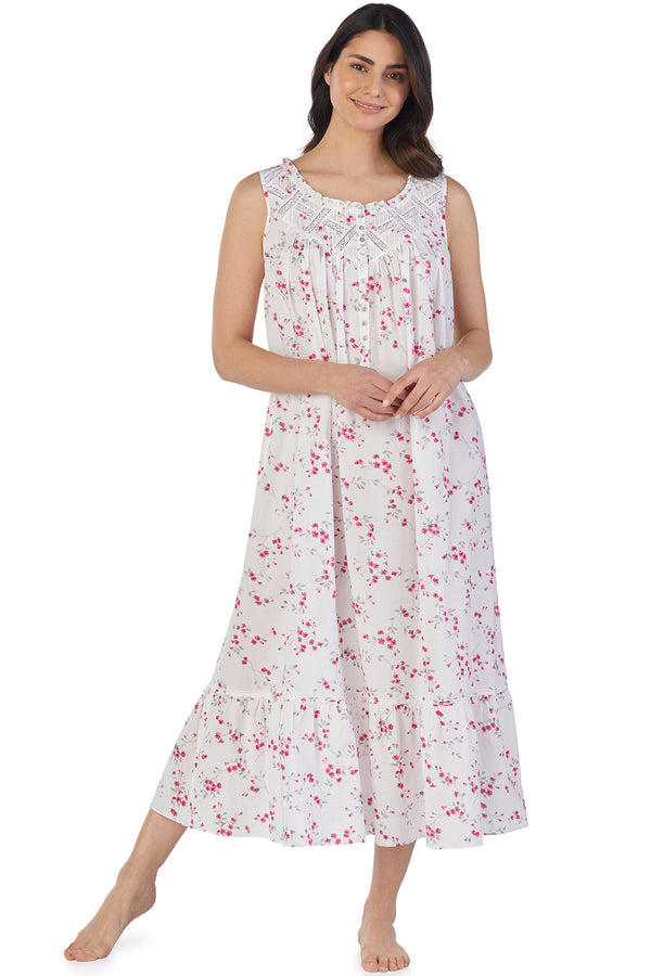 LATTICE BALLET GOWN-Multi Floral Scroll