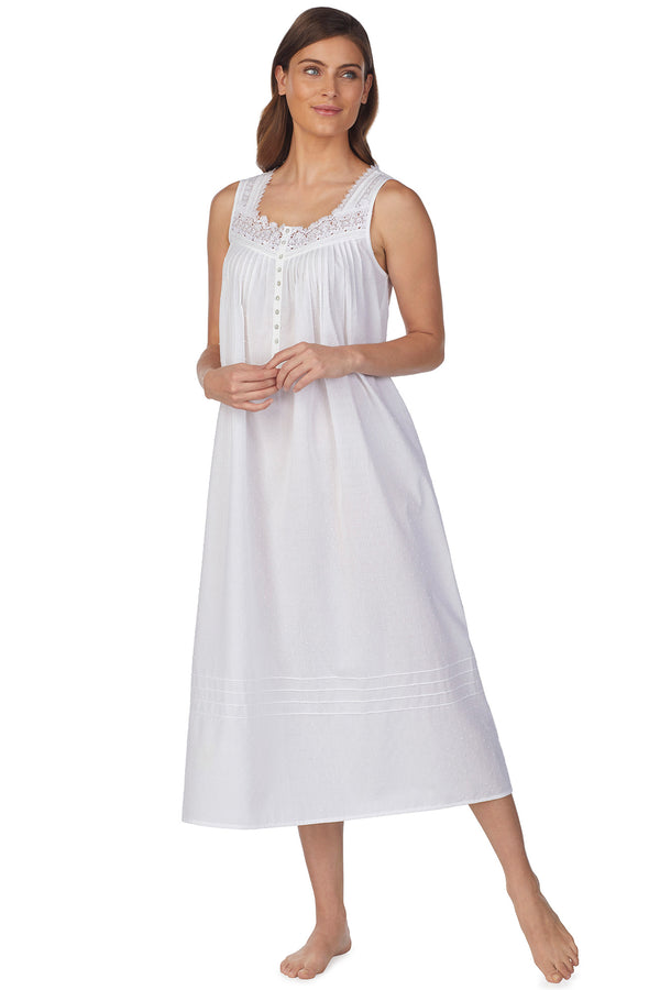 Whisper Soft Stripe Gown, White