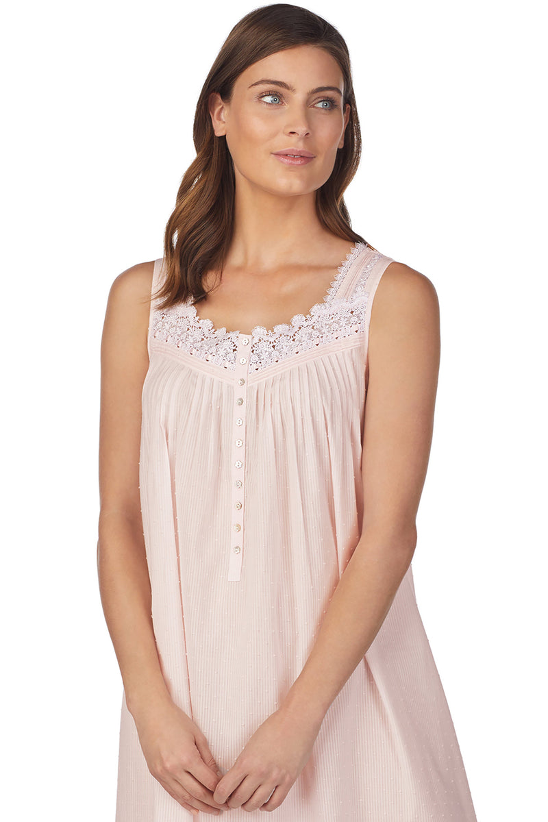 Whisper Soft Stripe Gown, Pink