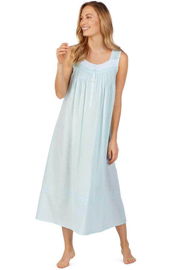 Circle Swiss Dot Gown, Seaglass