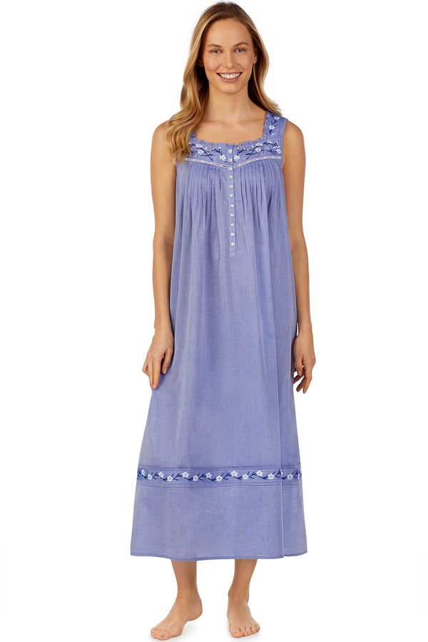 Embroidered Chambray Ballet Gown
