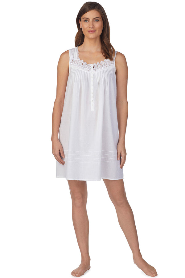 Whisper Soft Stripe Chemise, White