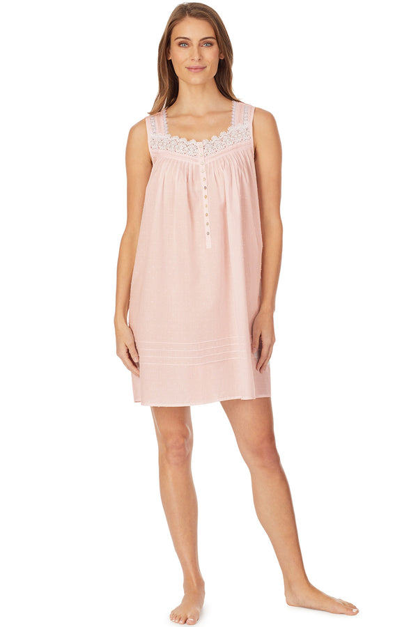Whisper Soft Stripe Chemise, Pink