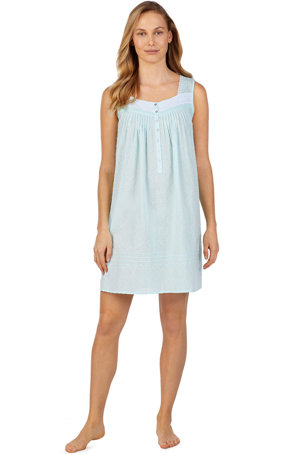 Circle Swiss Dot Chemise, Seaglass