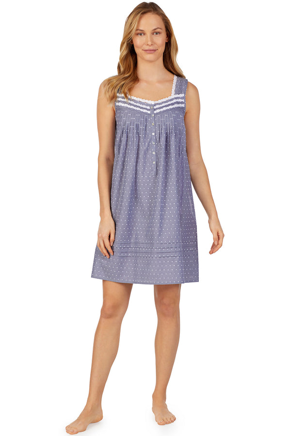 Slate Chambray Swiss Dot Chemise