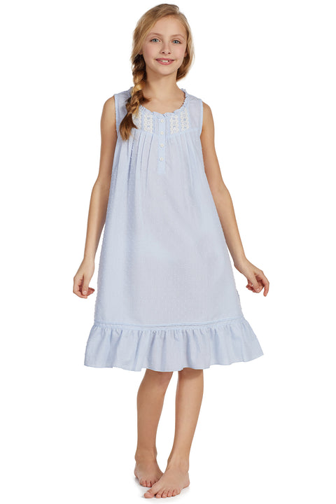 Swiss Dot Girls Gown -     Mommy & Me