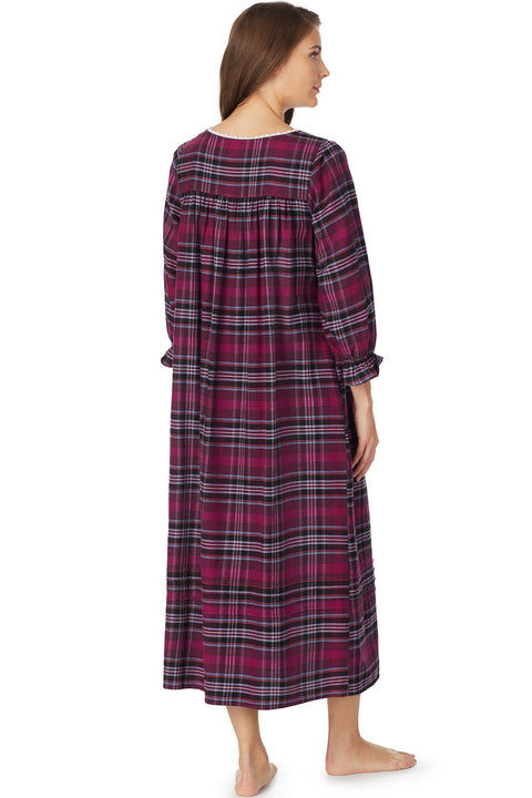 Holiday Plaid Flannel Gown