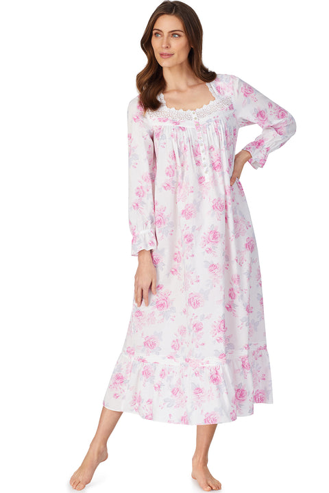 Aquarelle Rose L/S Nightgown