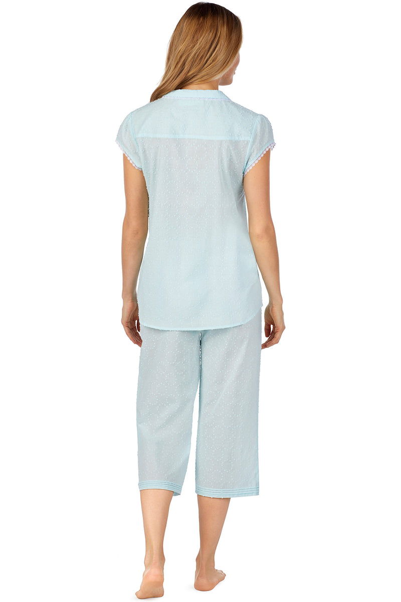 Circle Swiss Dot Pajama, Seaglass