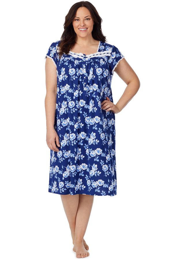 Indigo Rose Waltz Gown - Plus Size