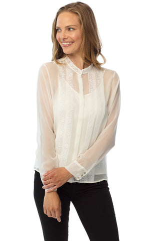 Kensington Blouse, Winter White