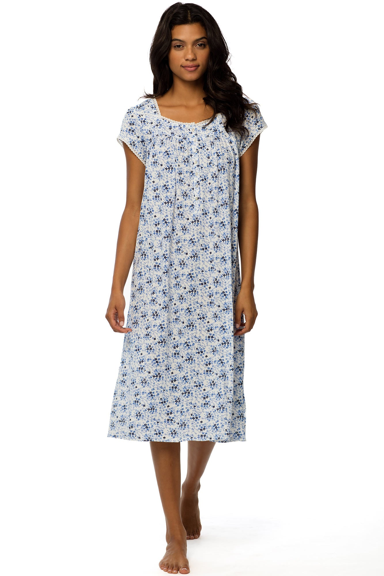 Forget-Me-Not Cap Sleeve Gown