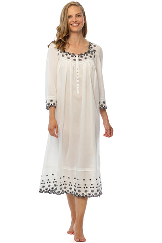 Embroidered Beauty Long Sleeve Gown