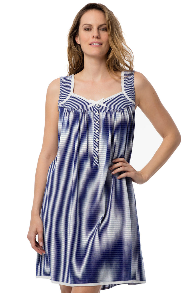 Pacific Stripe Chemise, Extra Small
