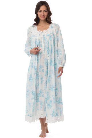 Wisteria Button-Front Robe