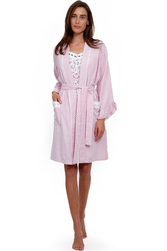 Holiday Blossom Wrap Robe