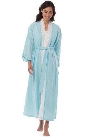 Sea Glass Seersucker Robe