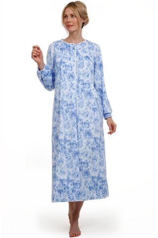 Blue Rose Microfleece Gown