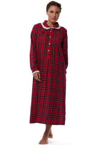 Red Tartan Holiday Plaid Gown