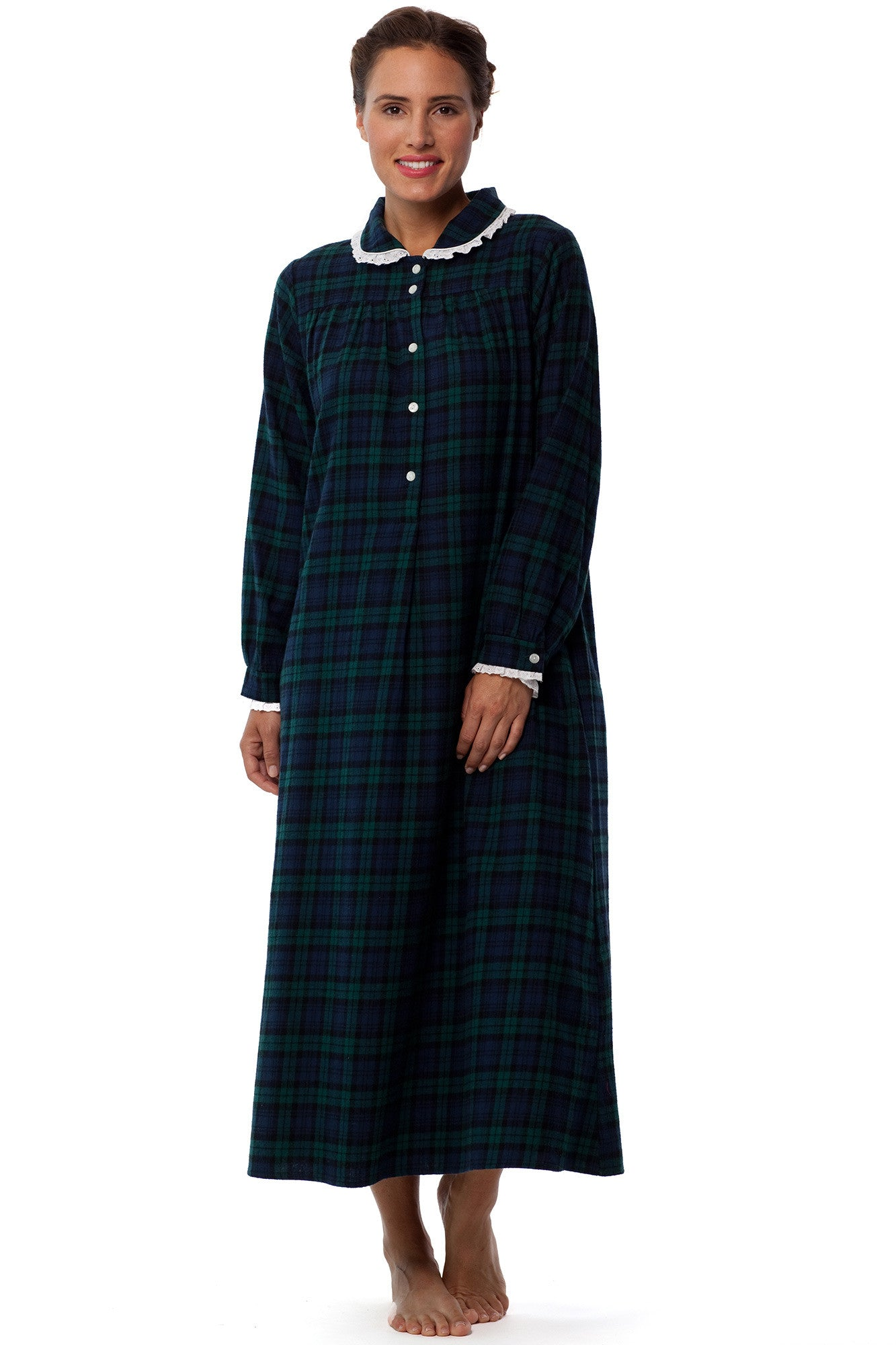 Black Watch Holiday Plaid Gown