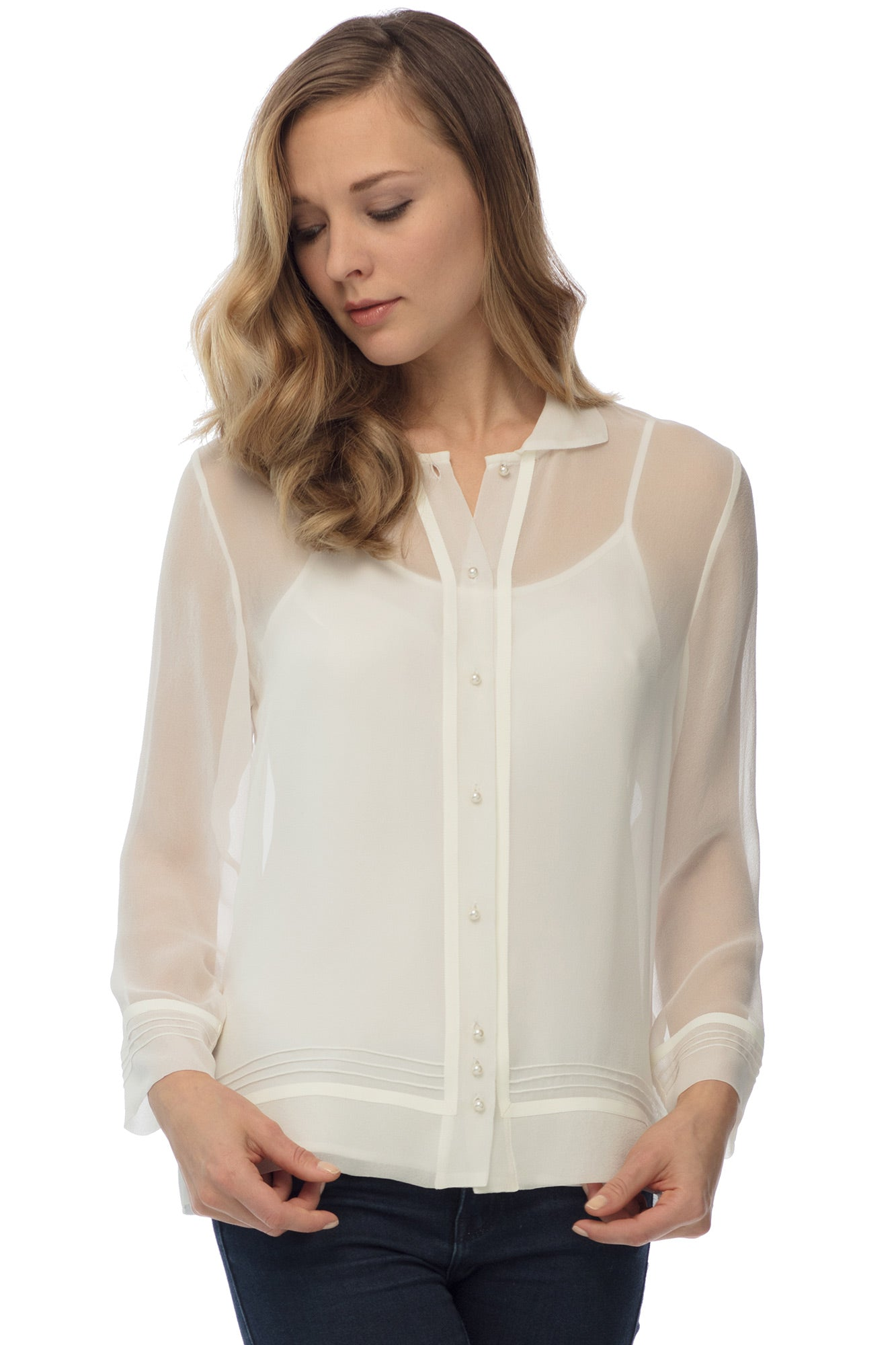 Brighton Blouse, Winter White
