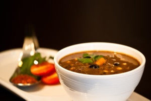 Open image in slideshow, Southwest Veggie Black Bean Soup - Real Meals