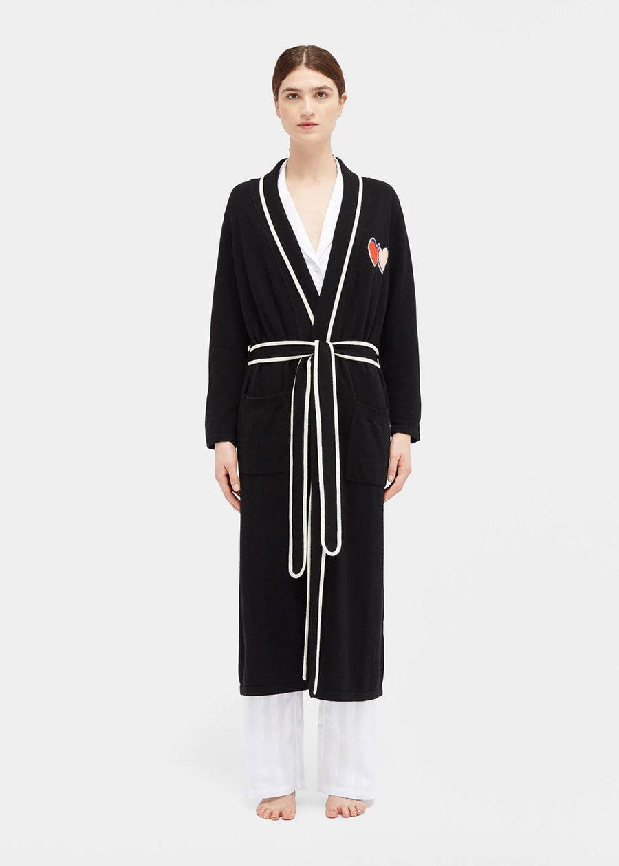 Chinti & Parker Twin Heart Dressing Gown