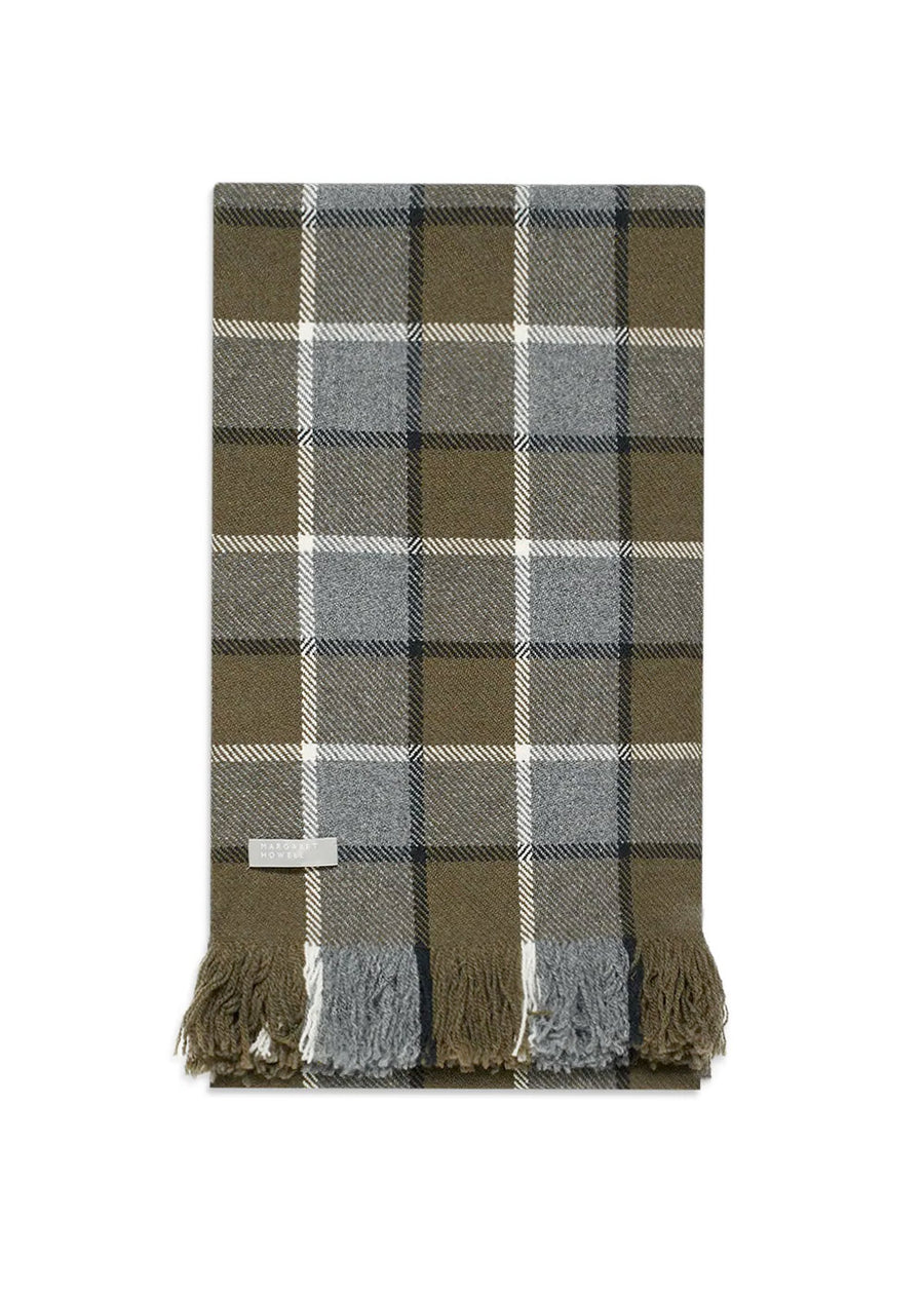 Margaret Howell Overcheck Scarf