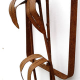Bamboo Wall Sculpture, rust