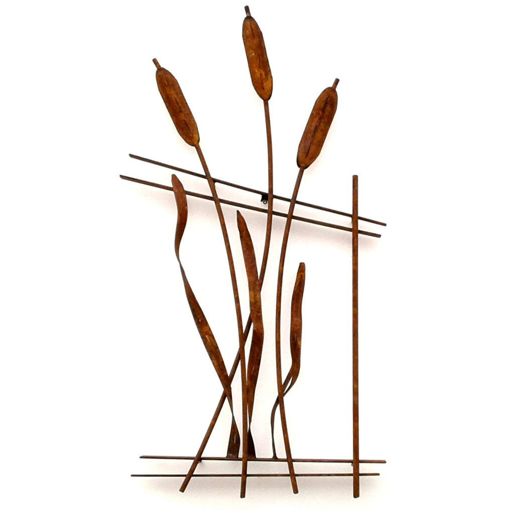 Bulrush Fence Art
