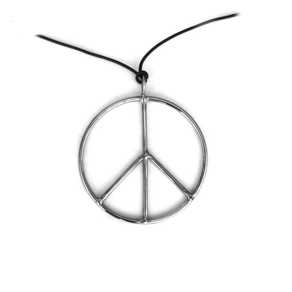 Peace Pendant, leather