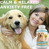 Amazing Chamomile Dog Anxiety Calming Aid Helps Calm and Eliminate Stress in Dogs, 120 Chews